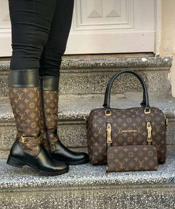 LV BAGS AND THIGH BOOTS image 3