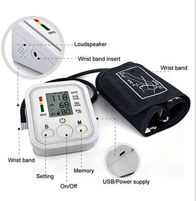 Portable Blood Pressure Monitor Household Sphygmomanometer Arm Band Type Digital Electronic Mini Blood Pressure Meter Tonometer image 6