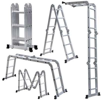 Multipurpose Aluminium Folding Ladder 12fts image 1
