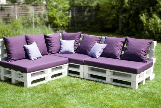 Affordable Simple Quality L-Shaped Pallet Sofa image 1