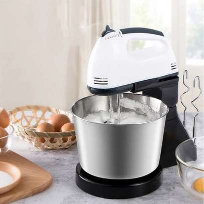 2L Stainless Steel Bowl Electric Hand Mixer - Multicolor image 1
