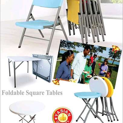 foldable tables, chairs and Stools are available for both indoor and outdoor use image 4