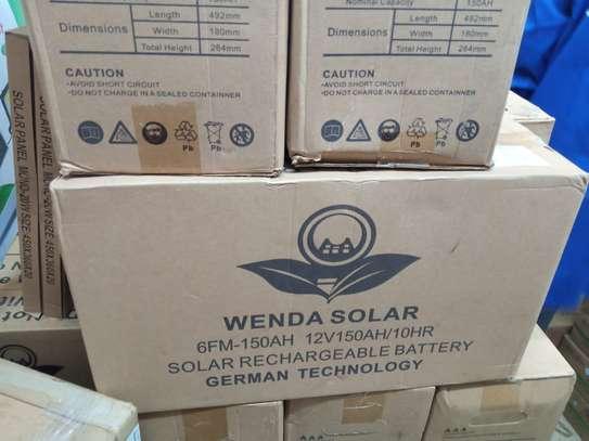 150 AH SOLAR BATTERY,WENDA SOLAR. image 1