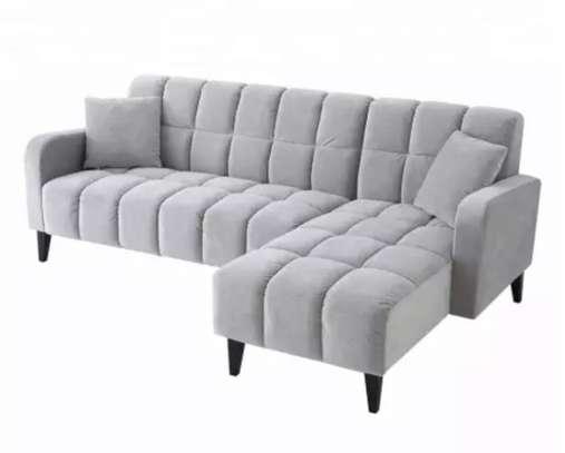 Tuffted l shape sofa 5 seater image 1