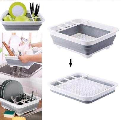Foldable kitchen drainage rack image 1