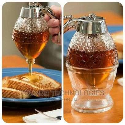 Generic Acrylic Storage Pot Honey Dispenser With Drip Bottle image 1