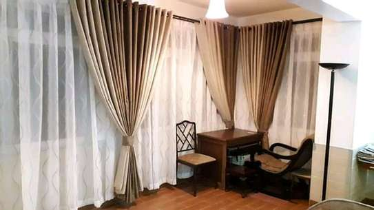HIGH QUALITY CREAM AND BROWN THEMED CURTAINS image 2