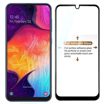 5D HD Clear Tempered Glass Front Screen Protector for Samsung A50 image 4