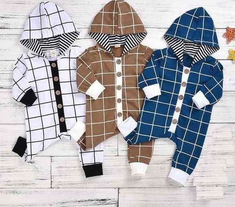 checked baby Rompers