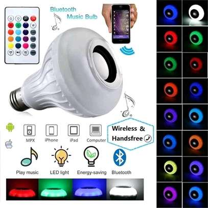 Bluetooth Speaker Music Light Bulb B22 LED White with powerful speaker + RGB Light Ball Bulb Colorful Lamp with Remote Control image 4