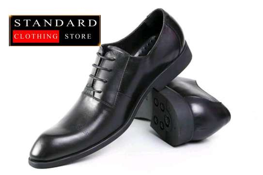 PURE ITALIAN LEATHER SHOES WITH RUBBER SOLE image 1