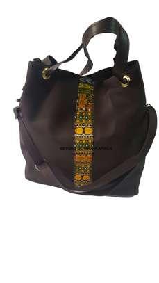 Brown Ankara Handbag image 1