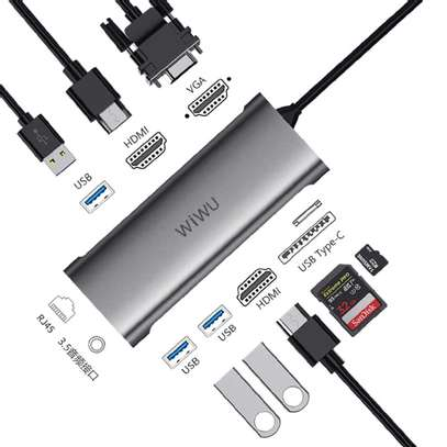 WIWU 11 In 1 Multi-Function Type-C Hub To HDMI Adapter Alpha A11312H image 2