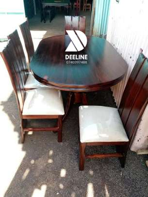 Oval 6 Seater Dining Table Set (401) image 4