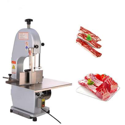 Commercial 650W Electric Meat Band Saw Bone Sawing Machine/Slicer for cutting frozen meat, Sawing pig's trotters, beefsteak with saw blade image 1