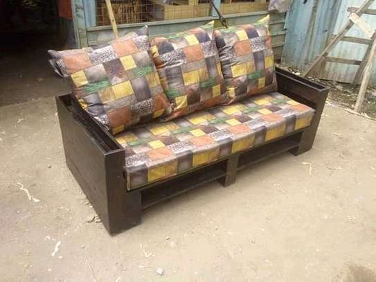 Beautiful Modern Quality Rustic 3 Seater Pallet Sofa image 1