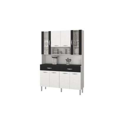 KITCHEN CABINETS BUF033 WHITE AND BLACK image 1
