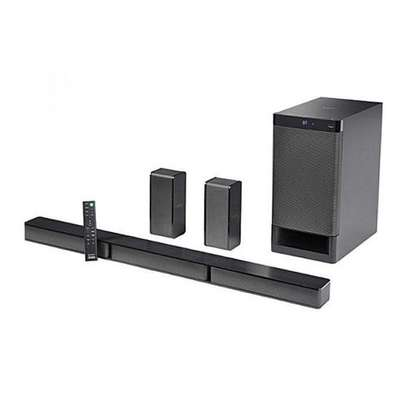 Sony 600W SOUND BAR, 5.1CH, BLUETOOTH, HT-RT3  @31,500  #contact0727248120  Key Features  SONY 600W SOUND BAR POWERFUL 600W OUTPUT POWER  5.1CH SURROUND SOUND EASY BLUETOOTH CONNECTIVITY WITH NFC™ ONE-TOUCH SOUND BAR, SUBWOOFER, AND REAR SPEAKERS CREATE AUTHENTIC SURROUND SOUND WITH 5.1 CHANNEL SYSTEM SONY DOLBY DIGITAL TECHNOLOGY S-MASTER DIGITAL AMPLIFIER FOR REFINED, image 1