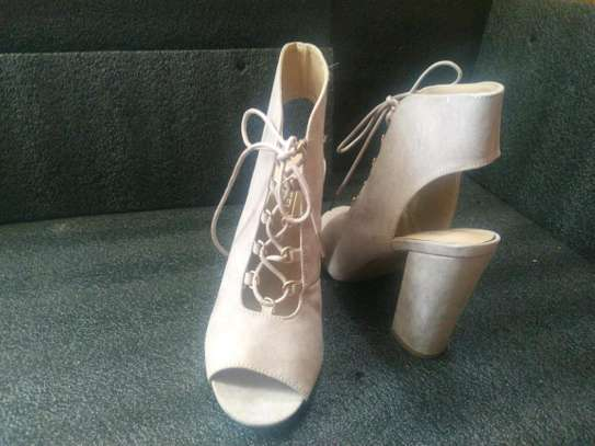Lace Up Block Heels image 1