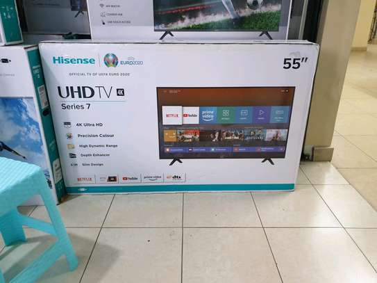 Hisense  55inch Smart  UHD 4K  Android led tv image 2