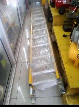 Fibre glass double extension ladder frp