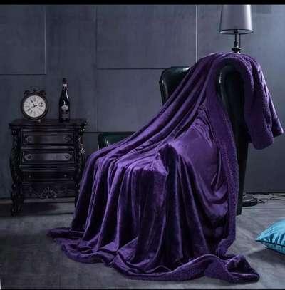 Soft Warm Fleece Blanket 150*203 Cm- Purple image 2
