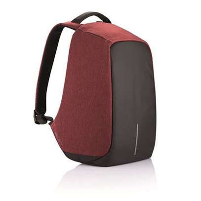 Anti-theft USB Charging Port Business Backpack - Black And Maroon image 1