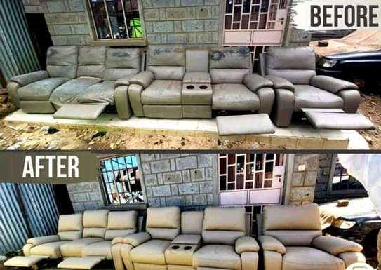 Repair/Reupholstery of Recliner sofas(Imported) image 4
