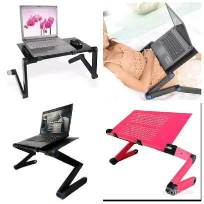 adjustable laptop stand black and pink Available image 1
