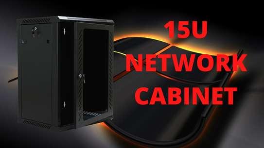 15U Network Cabinet (Black) image 1