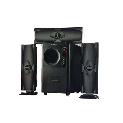 Vitron V635 3.1 HOME THEATER BUILT IN POWERFUL POWERFUL AMPLIFIER, SUB-WOOFER SYSTEM 3.1 CH 10000W - BLACK image 1