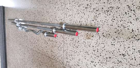 1.8m straight Olympic barbell rod image 2