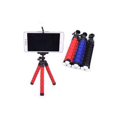 Phone Tripod, Compatible with iPhone, Android, Camera, and gopro, Small and Lightweight Mini Tripod with Flexible Legs (red ) image 2