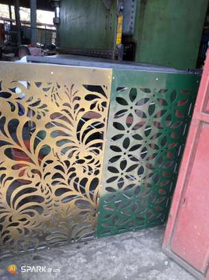 Balcony and staircase plasma cut