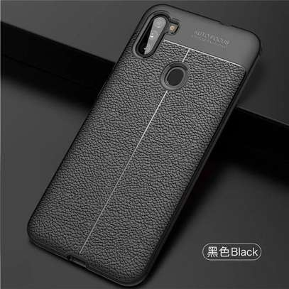 Auto Focus Leather Pattern Soft TPU Back Case Cover for Samsung M11/A11 image 4