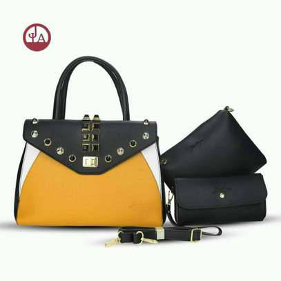 Stylish Yellow and Black Handbag