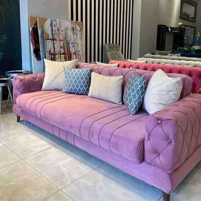 Classic 3 seater Chesterfield sofas. image 1