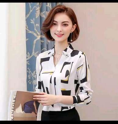 Ladies fancy chiffon blouses image 4