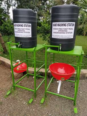 Foot operated Hand washing stations