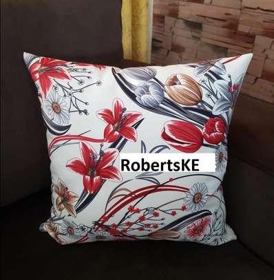 decorative floral  print throw pillow image 1