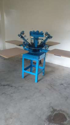4 station, 4 color screen printing Machine