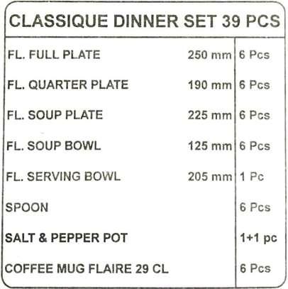 39pc dinner set/39pc diva dinner set/Dinner set/quadrant dinner set/Plates image 2