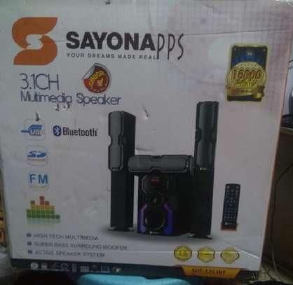 Sayona SHT 1263 BT 16000 Watts Tall Boys Bluetooth FM Radio image 1