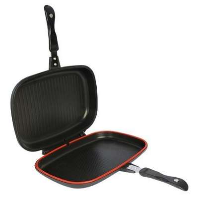 Dessini Die Cast Double Sided Made In Italy Grill Pan 40cm - Black image 4