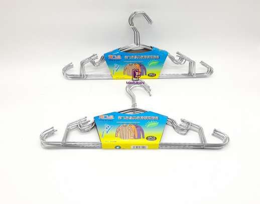 12pcs Stainless Chrome Plated Steel Heavy Duty All Purpose Clothes Hangers 16inch 42cm image 1