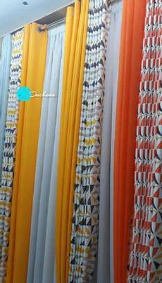 yellow and orange double sided curtains image 1