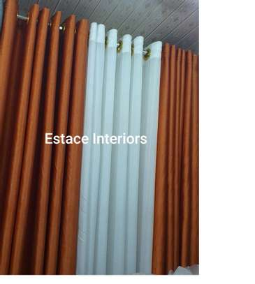 Matched curtains and sheers image 9