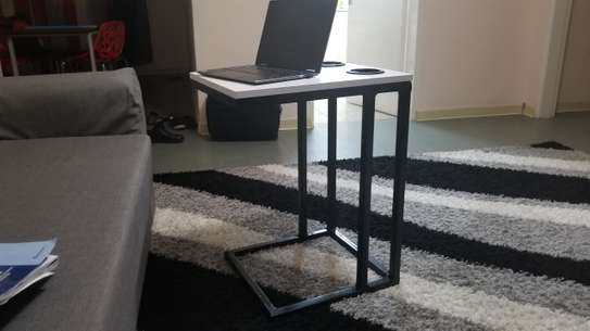 Laptop Stand with Cup Holders (White) image 2