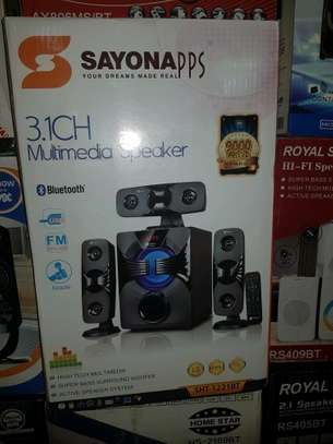 Sayona PPS SHT-1221BT 3.1CH Multimedia Speaker 9000watts image 1