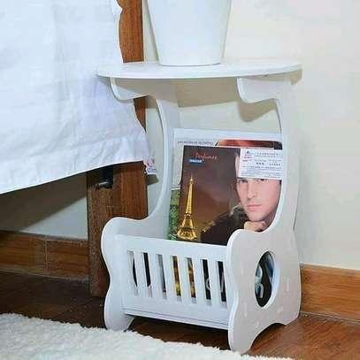 European White decorative/ bedside/coffee/balcony/magazine/living room stool image 1